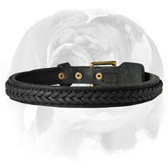 English Bulldog collar with decoration