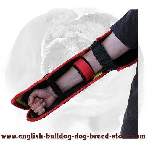 Strong inner handles dog bite sleeve for English Bulldog