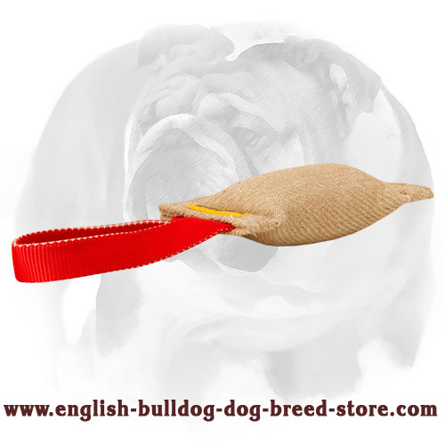 Strong Jute bite tug for training English Bulldog puppies