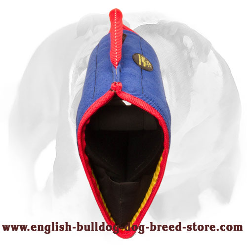 English Bulldog bite builder sleeve for young and adult dogs