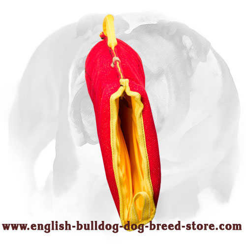 English Bulldog solid puppy sleeve for bite training