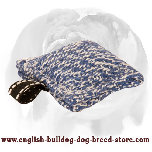 Solid French linen puppy bite tug for training English Bulldog
