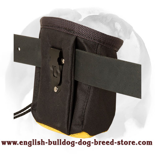 Water-proof English Bulldog training treat pouch