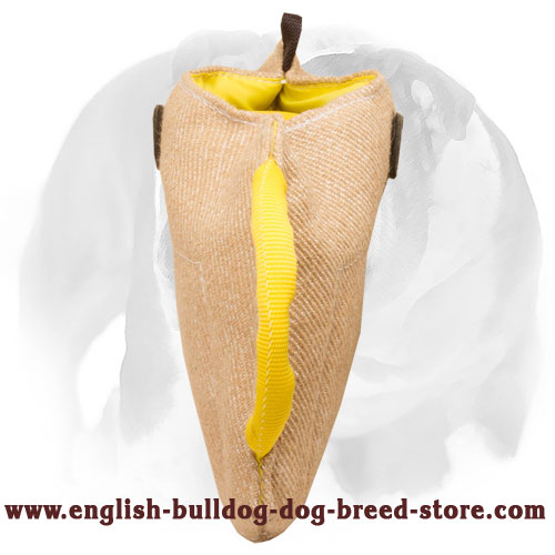 English Bulldog solid Jute bite builder for puppies