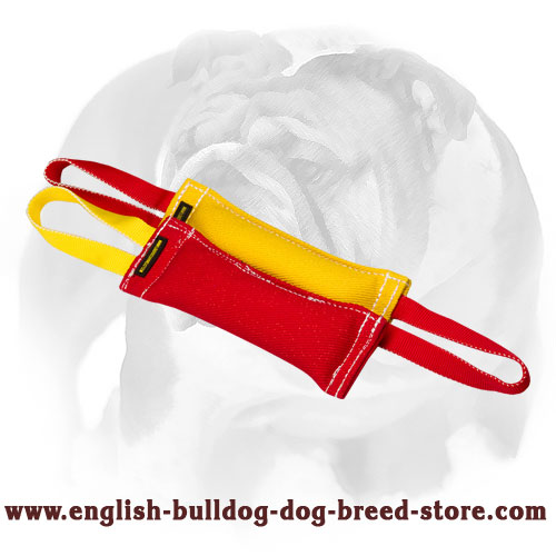 English Bulldog set of tugs for bite training