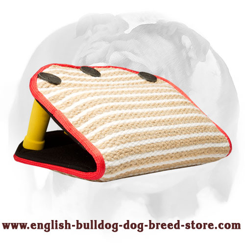 English Bulldog strong Jute puppy bite builder for training