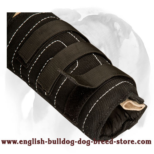 English Bulldog french linen dog hidden protection sleeve for professional bite training