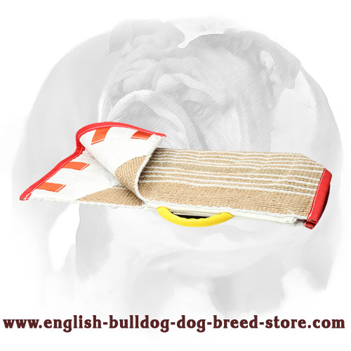 English Bulldog eco-friendly Jute cover for bite sleeve for training