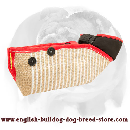 English Bulldog Jute bite protection sleeve