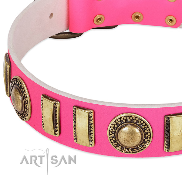 Top rate genuine leather dog collar for your lovely canine