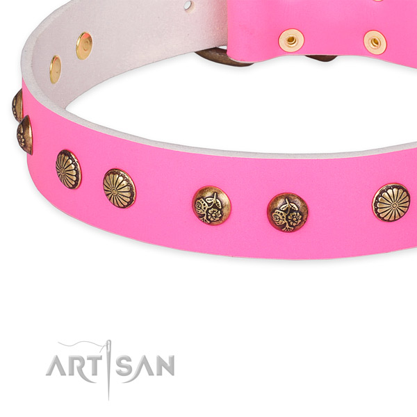 Perfect fit genuine leather collar for your impressive pet