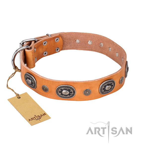 Soft full grain leather collar created for your dog
