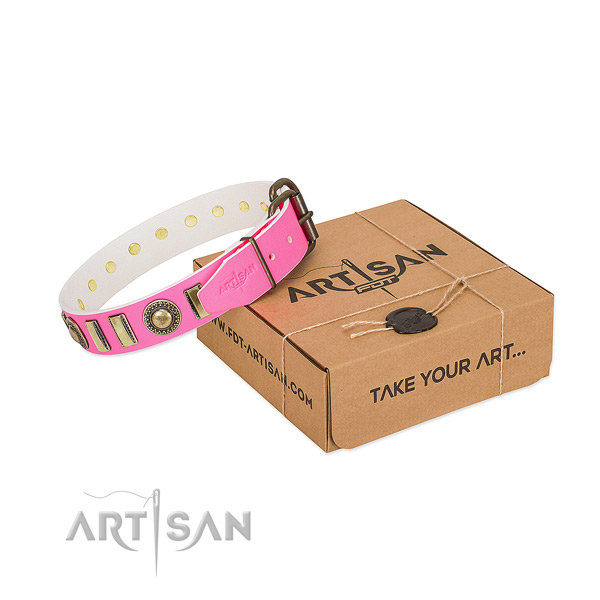 Top rate leather dog collar handmade for your dog