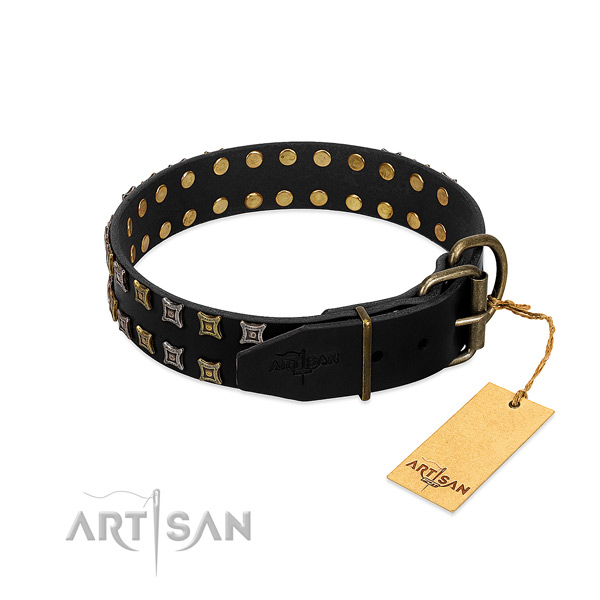 Best quality full grain genuine leather dog collar created for your pet