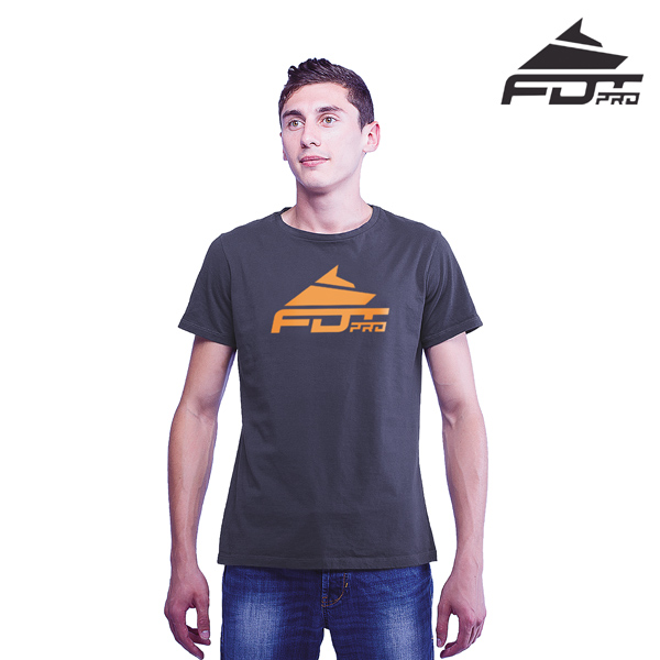 Top Quality Cotton FDT Pro Men T-shirt of Dark Grey
