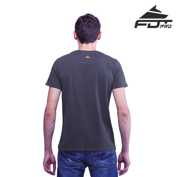 Men T-shirt Dark Grey FDT Pro for Dog Training