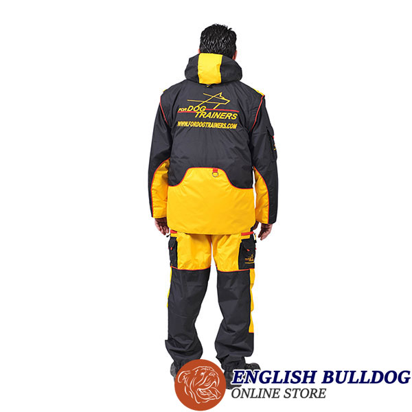Membrane Material Dog Training Bite Suit with Several Pockets