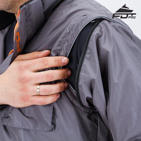 Strong Zipper on Sleeve for Professional Design Dog Tracking Jacket