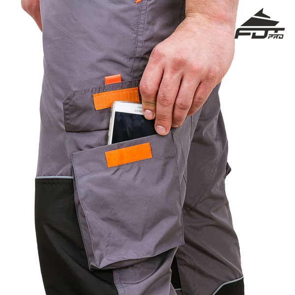 FDT Professional Design Dog Training Pants with Comfortable Velcro Side Pocket