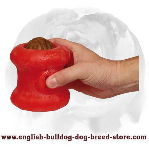 'Rolling Feeder' English Bulldog Large Chew Dog Toy