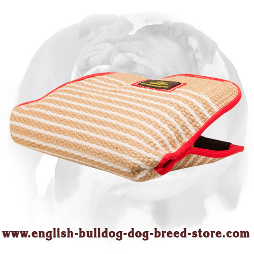 English Bulldog Jute Bite Builder Sleeve for Young Dogs
