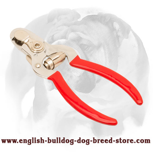 """Personal Groomer"" - English Bulldog Nail Trimmer with Vinyl Handles and Stop"