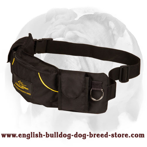 'Swift Reward' English Bulldog Training Pouch for Toys and Treats
