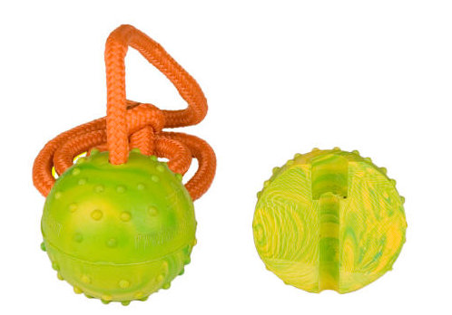 Training dog ball on a stringl for English Bulldog 2 inch
