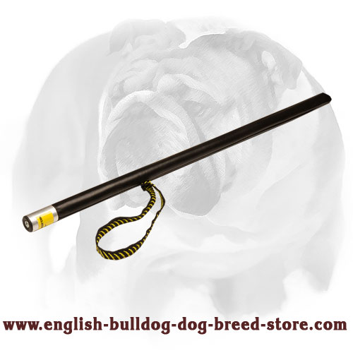 English Bulldog Agitation Stick Covered with Leather for Training