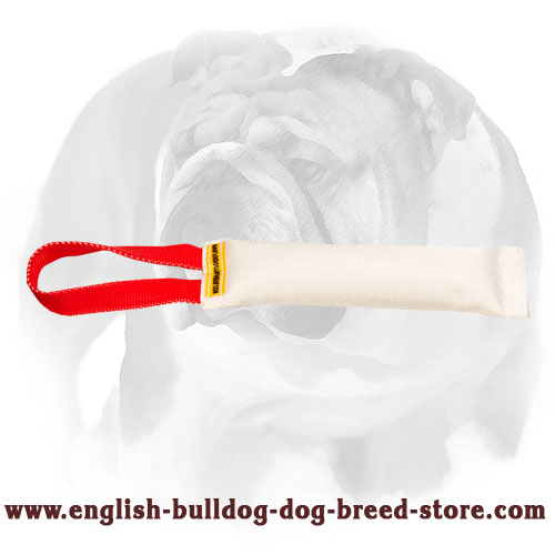 English Bulldog Fire Hose Training Tug with Handle