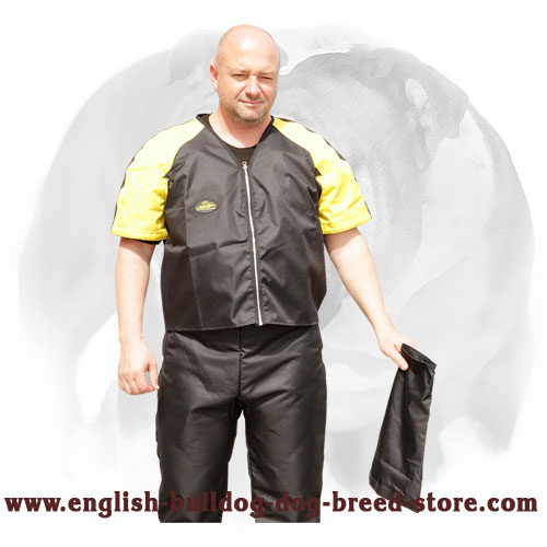Dog Scratch Protection Jacket for English Bulldog Training and Competitions