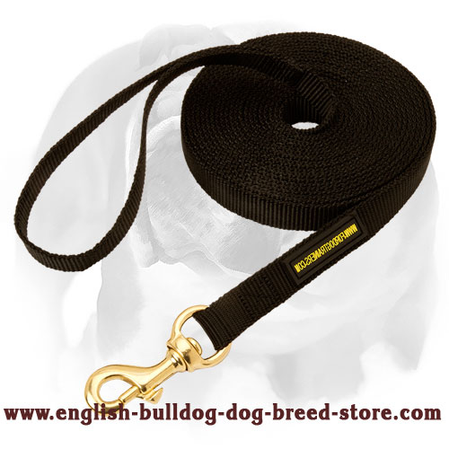 English Bulldog Nylon Dog Leash for Tracking and Training