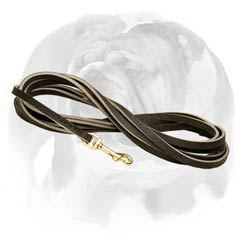 Tracking Leather English Bulldog leash
